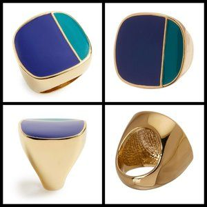 Trina Turk Jewelry - TRINA TURK Colorblock Enamel Ring - Blue/Green